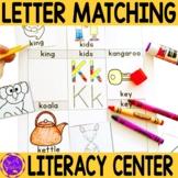 Alphabet Letter Matching Center for Kindergarten (RF.K.1.d)