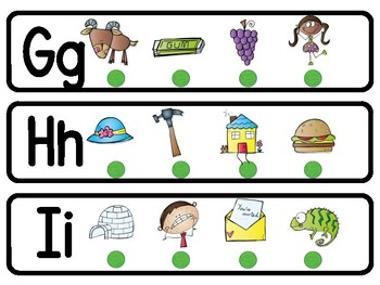 Initial Letter Picture Strips