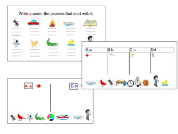 Initial Letter Recognition (Smartboard Activity)