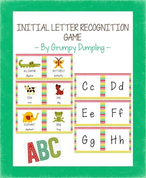 Initial Letter Recognition Game