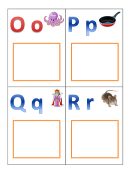 Initial Letter Sorting (Letters Oo, Pp, Qq, Rr)