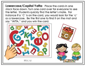 Initial Letter Sound Fluency YATTA Game - Available in Color and Black/White