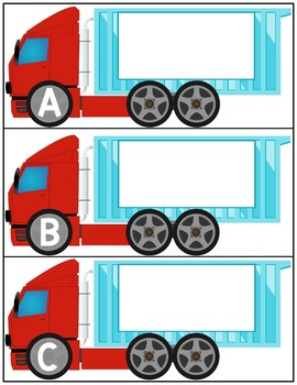 Initial Letter Sound Matching | Big Rig Trucks