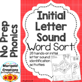 Initial Letter Sound Sort No Prep