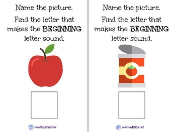 Initial Letter Sounds- An ELA Concept Adapted Book for Autism Units-Early Elem