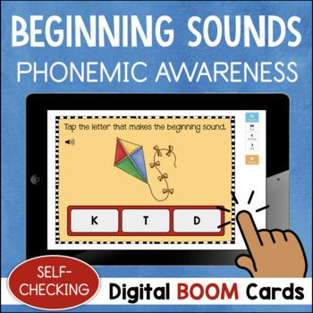 Initial Letter Sounds DIGITAL Task Cards BOOM CARDS