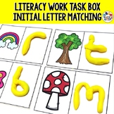 Initial Letter Task Cards, Spring Literacy Activities