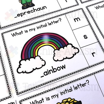 Initial Letter Task Cards, St Patrick's Day Activities