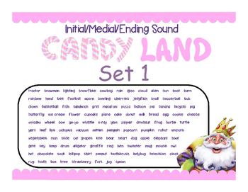 Initial/Medial/End Sound Candy Land