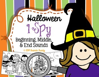 Initial, Medial, Final Sounds I SPY!  ~Halloween Edition~