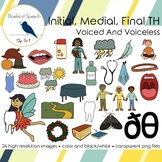 TH Clip Art Word Set Voiced and Voiceless TH Sounds for Articulation Activities