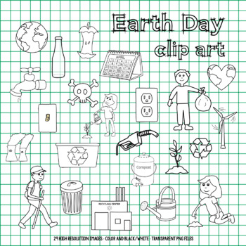 #MarTpTClipLove Earth Day Clip Art Set - Helping Earth, Air Pollution, Recycling