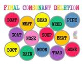 Initial, Medial and Final Consonant Deletion Artic Splat Mats