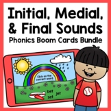 Initial, Medial, and Final Sounds CVC Boom Cards Bundle |