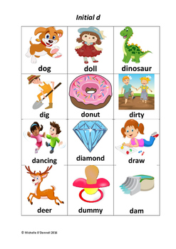 Initial Medial And Final D By Speech Pathology Toolkit
