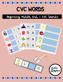 Initial, Middle, End, and CVC Interactive Activity for Students with Autism
