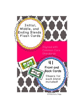 Initial, Middle, and Final Blends Flash Cards