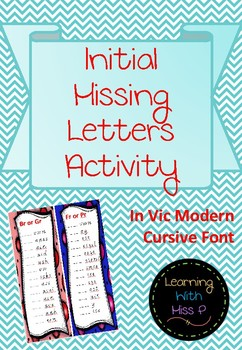 Initial Missing Letters