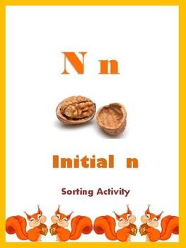 Initial N - Sorting Activity - File Folder Game