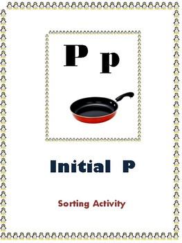 Initial P - Sorting Activity - File Folder Game