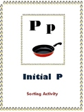 Initial P - Sorting Activity - File Folder Game