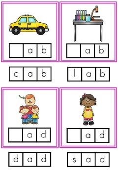 CVC Words - Initial Phoneme Cards