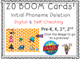 Initial Phoneme Deletion Find & Click Boom Cards!