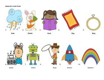 Initial Probe Checks: R words, phrases, & sentences