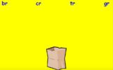 Initial R Blend Sort Activboard Activity - br, cr, gr, tr
