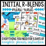 Initial R Blends Phonics By Design Mini-Unit | R Blends Activities