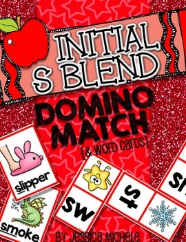 Initial S Blend Domino Match {and Word Cards}