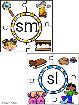 Initial S Blends Activity Set: Puzzles, Matching Game and More!
