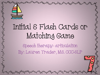 Initial S Flash Cards or Memory Game