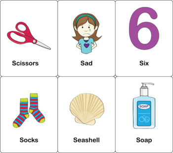 Initial S Flashcards 3x5 in Color and B&W