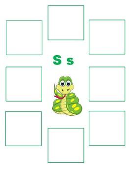 Initial S - Sorting Activity- File Folder Game