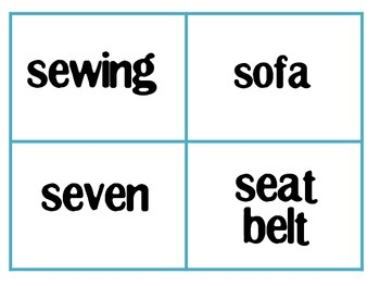 Initial S Words & Phrases Flashcards