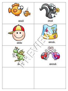 Initial /sm/ blends Flashcards or Memory Game