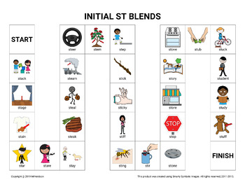 Initial ST Blends Board Game