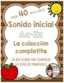 Initial Sound A-Z-Spanish Worksheets #1-10 La colección co