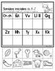 Initial Sound A-Z-Spanish Worksheet #7