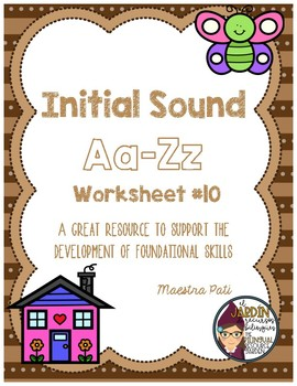 Initial Sound A-Z Worksheet #10