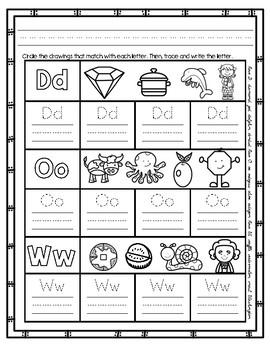 Initial Sound A-Z Worksheet #4