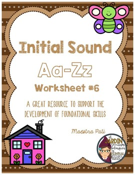 Initial Sound A-Z Worksheet #6