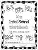 Initial Sound A-Z-Worksheets #1-10 The Complete Collection