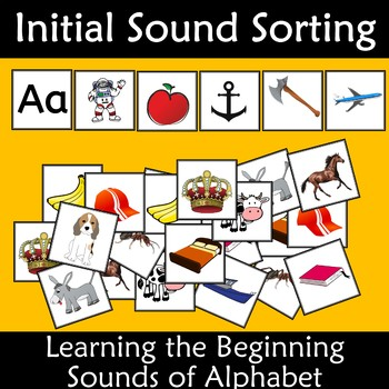 Initial Sound Alphabet Card Sort