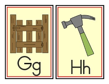 Initial Sound Alphabet Cards or Word Wall Headers