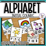 Alphabet Initial Sound Clip Activities (with end sounds in
