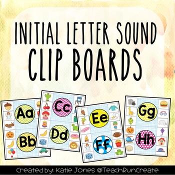 Initial Sound Alphabet Clip Boards