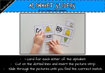 Initial Sound Alphabet Sliders