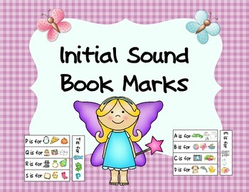 Initial Sound Book Marks